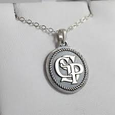 monogrammed pendant necklace custom pendants design your own pendant custommade
