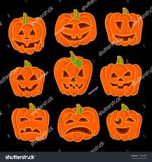 halloween pumpkin set set vector halloween stock vector 114086890