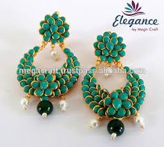 pachi work earrings fashion earring bali earring pachi work indian