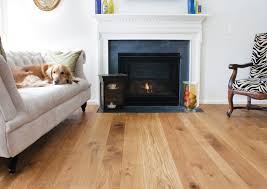 Wide Plank Distressed Laminate Flooring Decoration Ideas Charming Living Room With Light White Oak