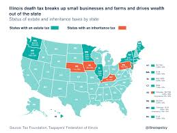 State Income Tax Map by Federal Tax Changes Could Pressure Illinois To Repeal Death Tax