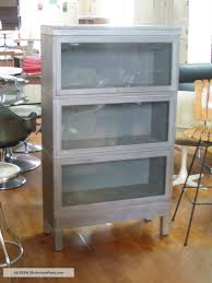 Lawyers Bookcase Furniture Grey Antique Industrial Barrister Bookcase Machine Age