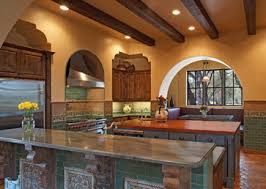Southwest Kitchen Designs The Use Of Turquoise Tile In This Kitchen Is Common In