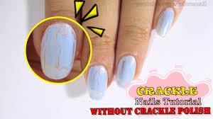 diy crackle nails without crackle polish youtube