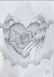 pencil art love heart