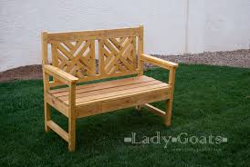 Wood Bench Plans Free by Ana White Woven Back Bench Diy Projects