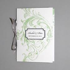 scroll wedding programs florid scroll 4 page program template print