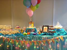 candy table with theme from disney pixar movie up marshmallow