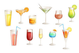 cocktail icon vector cocktails vector graphics pack