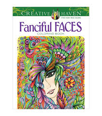 dover creative haven fanciful faces coloring book joann