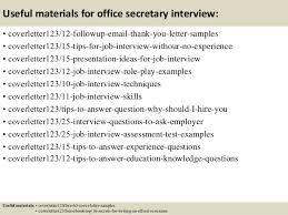 top 5 office secretary cover letter samples
