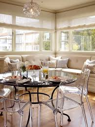 acrylic dining chairs dining room transitional with beige curtains