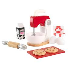 Kidkraft Pastel Toaster Set Amazon Com Kidkraft Red U0026 White Baking Playset Toys U0026 Games