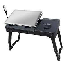 lap desk with fan imountek portable laptop table lap desk with pad black ebay