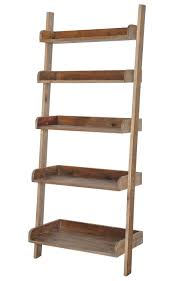 Leaning Ladder Shelf Plans Furniture Simple 5 Tier Leaning Bookcase Design Ideas Enticing