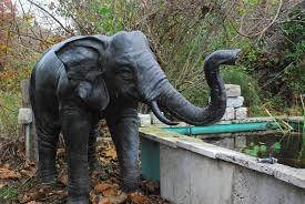 elephant bronze elephant for pond
