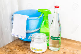 baking soda with vinegar natural mix for effective house cleaning