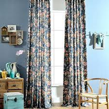Retro Floral Curtains Curtain Sale Canada Teal Blackout Curtains Velvet Grommet