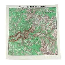 Yosemite Topo Map Amazon Com Topographic Map Bandana Yosemite Outdoor Recreation