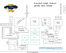 foothill cus map foothill high map bell schedule