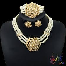 pearls necklace set jewellery images Pearl bead necklace set indian bridal pearl necklace set pakistani jpg