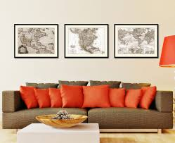 north america canada mexico vintage sepia map home decor wall art north america canada mexico vintage sepia map canvas print picture frame gifts home decor wall