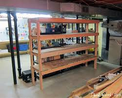 Wood Shelving Plans Garage by Basement Shelf Garage Shelves