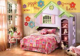 lovely bunk beds at pink bedroom with white bed also desk and