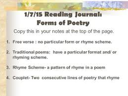 types of poetry ppt