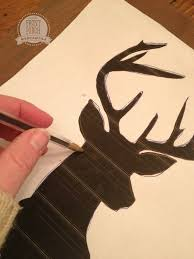 deer silhouette how to easily paint a deer head silhouette