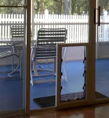 Secure Sliding Patio Door Maxseal In Glass Pet Door From Security Boss Manufacturing