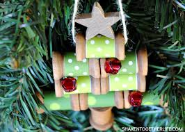 wooden spool tree ornament