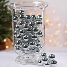 shiny silver glass ornament picks vase fillers table scatters