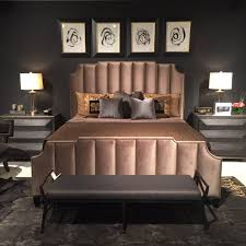bernhardt furniture archives catherine m austin interior design bayonne bed bernhardt interiors channeled upholstered headboard and footboard with nailhead trim between channels and around frame