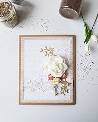 amazon com handmade paper greeting card gift scrapbook style