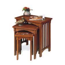 home decorators collection mission oak nesting end table set of 3