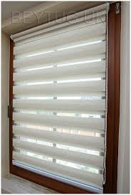 cream natural day and night zebra vision window roller blind