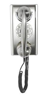 cortelco wall mount phone amazon com crosley cr55 bc wall phone with push button