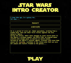 Star Wars Meme Generator - star wars intro creator a website that lets you write your own star