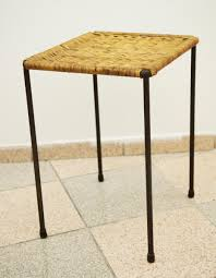 Rattan Side Table Rattan Side Table By Carl Auböck For Sale At Pamono
