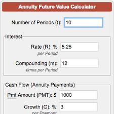 Ordinary Annuity Table Future Value Of Annuity Calculator