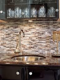 subway tile backsplash kitchen brown cabinets home design ideas