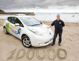 nissan leaf price uk nissan leaf taxi hits 100 000 miles still has all battery bars