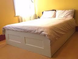 Brimnes Bed Frame Brimnes Bed Frame With Storage White Bed