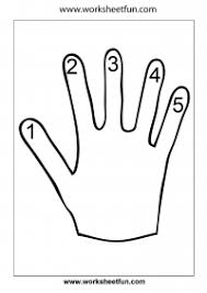 hand worksheet u2013 finger counting 1 5 u2013 number counting u2013 1 5