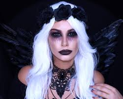 Black Eye Makeup For Halloween 21 Simple U0026 Pretty Look Angel Halloween Makeup Ideas
