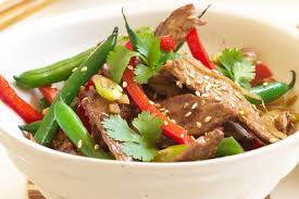 stir fry beef with ginger and garlic