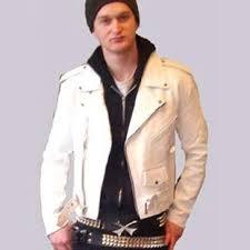 white motorcycle jacket british style black leather jacket