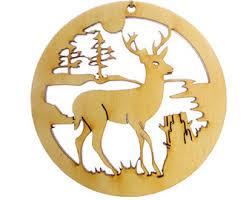 deer ornament etsy