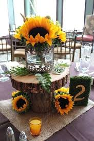 table centerpieces with sunflowers sunflower table decorations sunflowers table centerpieces simple